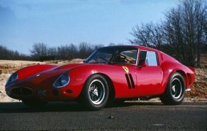 A 1962 Ferrari 250 GTO is displayed in Bridgehampton, New York.
