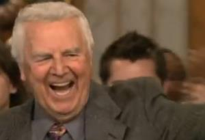 Don Pardo is shown at SNL in this screen shot.