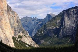 In this Oct. 2, 2013 file photo taken by Tammy Webber, a scenic view on her way to Glacier Point trail in the Yosemite National Park, Calif. is seen.