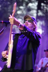 Hank Williams Jr .performs at Jam in the Valley in Varysburg, NY, on Friday, July 4, 2014.