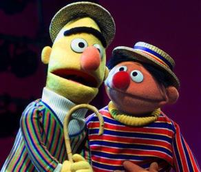 In this Aug. 22, 2001 file photo, Bert and Ernie, from the children's program Sesame Street, are shown in New York.