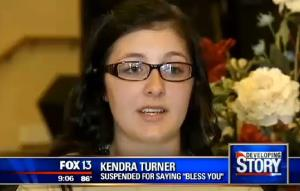 A screen shot from Fox News video featuring Turner.