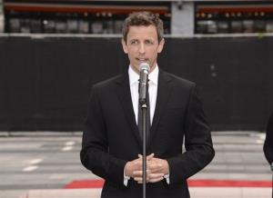 Host Seth Meyers speaks at the Television Academy's 66th Primetime Emmy Awards Press Preview Day and Red Carpet Rollout at Nokia Theater LA Live on Wednesday, Aug. 20, 2014, in Los Angeles.