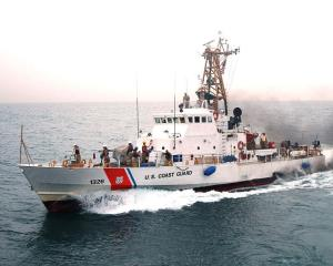 The Monomoy is one of the Coast Guard ships operating with the Navy's 5th Fleet.