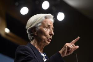 International Monetary Fund Managing Director Christine Lagarde speaks at the IMF in Washington, Wednesday, July 2, 2014.