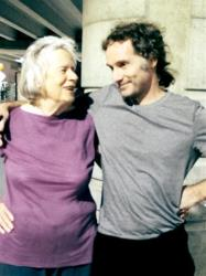 This image provided by the Curtis family shows Nancy Curtis, left, and her son, Peter Theo Curtis, right, in Boston on Aug. 26, 2014.