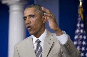 President Obama speaks Thursday in the White House.