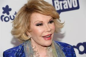 Joan Rivers attends the NBCUniversal Cable Entertainment 2014 Upfront at the Javits Center on Thursday, May 15, 2014.