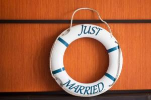 A groom was jailed after a floating wedding reception gone wrong.