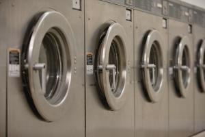 File photo of industrial washing machines.