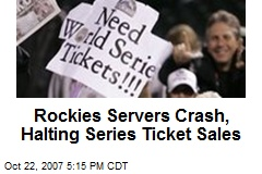Rockies Servers Crash, Halting Series Ticket Sales