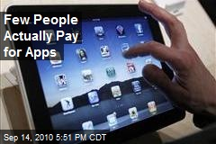 Few People Actually Pay for Apps