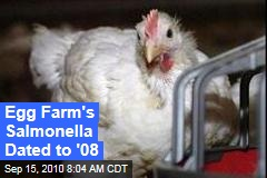 Egg Farm's Salmonella Dated to '08