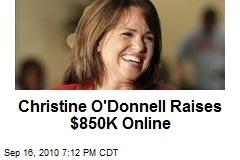 Christine O'Donnell Raises $850K Online