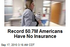 Record 50.7M Americans Have No Insurance