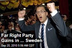 Far Right Party Gains in Sweden