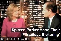 Spitzer, Parker Hone Their 'Flirtatious Bickering'