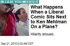 What Happens When a Liberal Comic Sits Next to Ken Mehlman On a Plane?