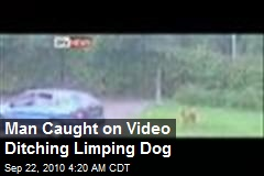 Man Caught on Video Ditching Limping Dog