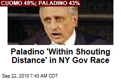 Paladino 'Within Shouting Distance' in NY Gov Race