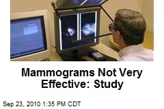 Mammograms Not Very Effective: Study