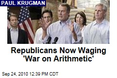 Republicans Now Waging 'War on Arithmetic'