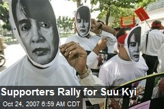 Supporters Rally for Suu Kyi