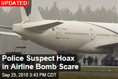 Police Suspect Hoax in Airline Bomb Scare