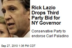 Rick Lazio Drops Third Party Bid for NY Governor