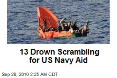 13 Drown Scrambling for US Navy Aid