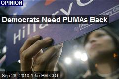 Democrats' Need PUMAs Back