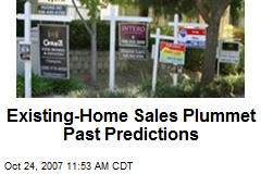 Existing-Home Sales Plummet Past Predictions