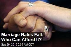 Marriage Rates Fall: Who Can Afford It?
