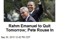 Sources: Rahm Emanuel Out; Pete Rouse In