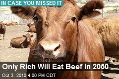 Only Rich Will Eat Beef in 2050
