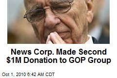 News Corp. Made Second $1M Donation to GOP Group