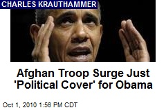 Afghan Troop Surge Just 'Political Cover' for Obama