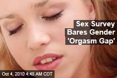 Sex Survey Bares Gender 'Orgasm Gap'