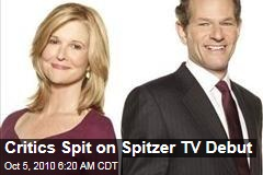 Critics Spit on Spitzer TV Debut