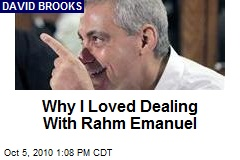 Why I Loved Dealing With Rahm Emanuel