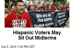 Hispanic Voters May Sit Out Midterms