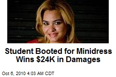 Student Booted for Minidress Wins $24K in Damages