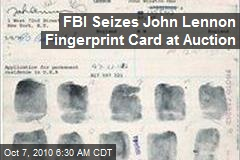 FBI Seizes John Lennon Fingerprint Card at Auction