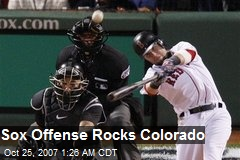 Sox Offense Rocks Colorado