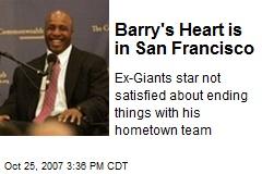 Barry's Heart is in San Francisco