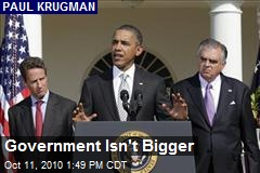 Government Isn't Bigger