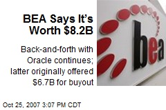 BEA Says It's Worth $8.2B