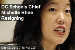 DC Schools Chief Michelle Rhee Resigning