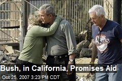 Bush, in California, Promises Aid