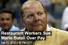 Restaurant Workers Sue Mario Batali Over Pay